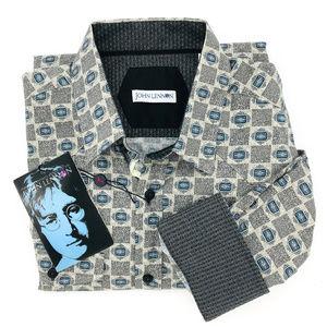 John Lennon NWT Button Down Contrast Cuff Shirt L